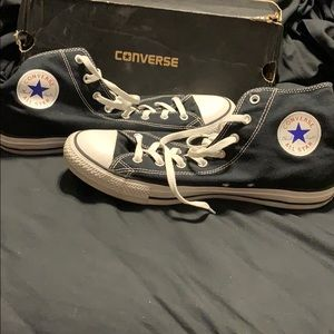Men's black converse high tops